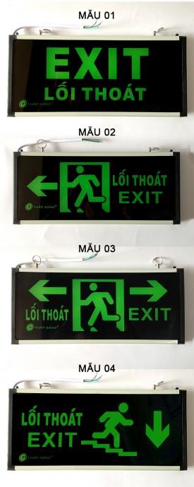 Đèn Exit 1 mặt, 2 mặt